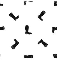 cowboy boot pattern seamless black vector image