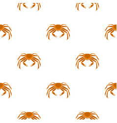 Crab sea animal pattern seamless vector