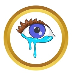 Crying eyes icon vector image