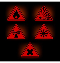 danger signs 2 vector image