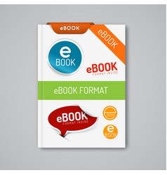 Ebook markers - stickers corners labels vector