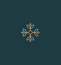 Elegant flower logo icon universal creative vector