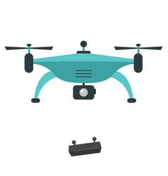 Flat drone vector
