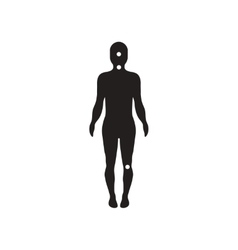 Flat icon in black and white style symptoms of vector