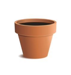 Flower pot isolated on white background vector
