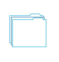 folder file document archive information vector image