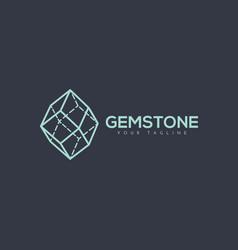 gemstone logo vector image