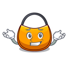Grinning beautifully hobo bag on character funny vector