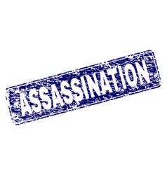 Grunge assassination framed rounded rectangle vector