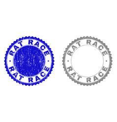 Grunge rat race textured watermarks vector