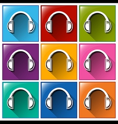 Headset icons vector