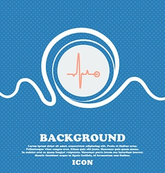 Heartbeat sign Blue and white abstract background vector image