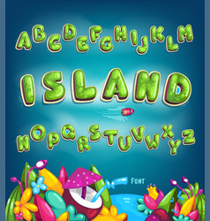 island font vector image
