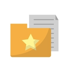 Isolated document and file design vector