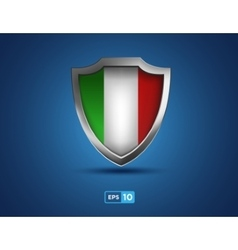 italy shield on blue background vector image