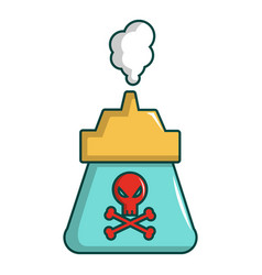 Kill pest gas icon cartoon style vector