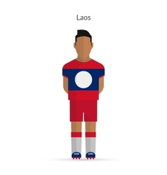 Laos football player Soccer uniform vector