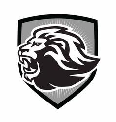 lion roar logo mascot design vector image