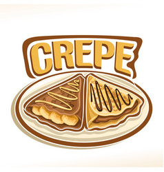Logo for french crepe vector