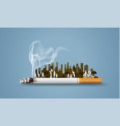No smoking and world tobacco day vector