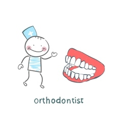 Orthodontist with the jaw vector