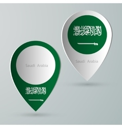 Paper of map marker for maps saudi arabia vector