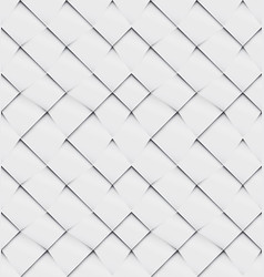 Patchwork seamless white origami pattern vector