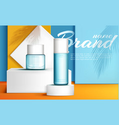 podium stage for product presentation banner vector image