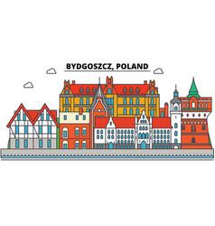 Poland bydgoszcz city skyline architecture vector