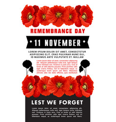 Poster lest we forget vector