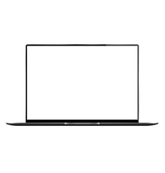 Realistic laptop flat with on white background vector
