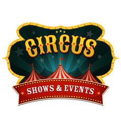 Retro circus banner vector