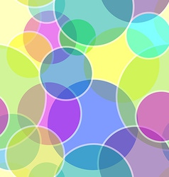 Seamless transparent bubble pattern vector image