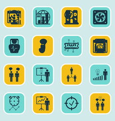 Set 16 administration icons includes vector