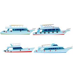 set of motor yachts vector image