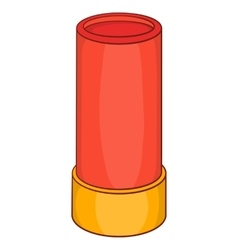 Shotgun shell iconcartoon style vector image