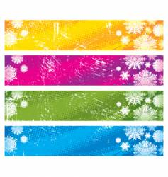 snowy banners vector image