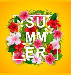summer typographical background vector image