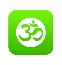 Symbol aum icon digital green vector