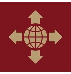 The navigation icon Location symbol Flat vector