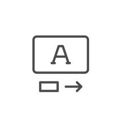 translation service line icon vector image