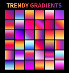 Trendy gradients screen gradient covers vector
