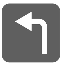 Turn Left Flat Squared Icon vector