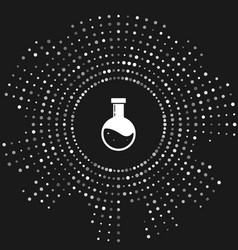 White bottle with potion icon isolated on grey vector