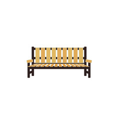 wooden bench - city park or garden element vector image