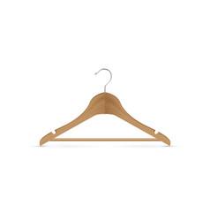 Wooden coat hanger vector