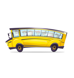 cartoon school yellow truck bus for kids vector image