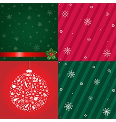 Christmas Backgrounds With Snowflakes Set vector image vector image