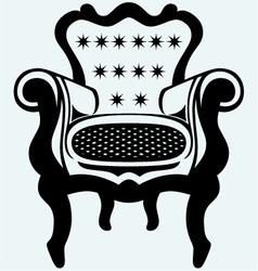 Classic armchair vintage vector image