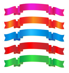 colorful sparkling ribbon vector image vector image